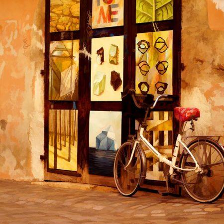 אורית גפני | מול בית הקפה Orit Gafni | In Front of the Cafe